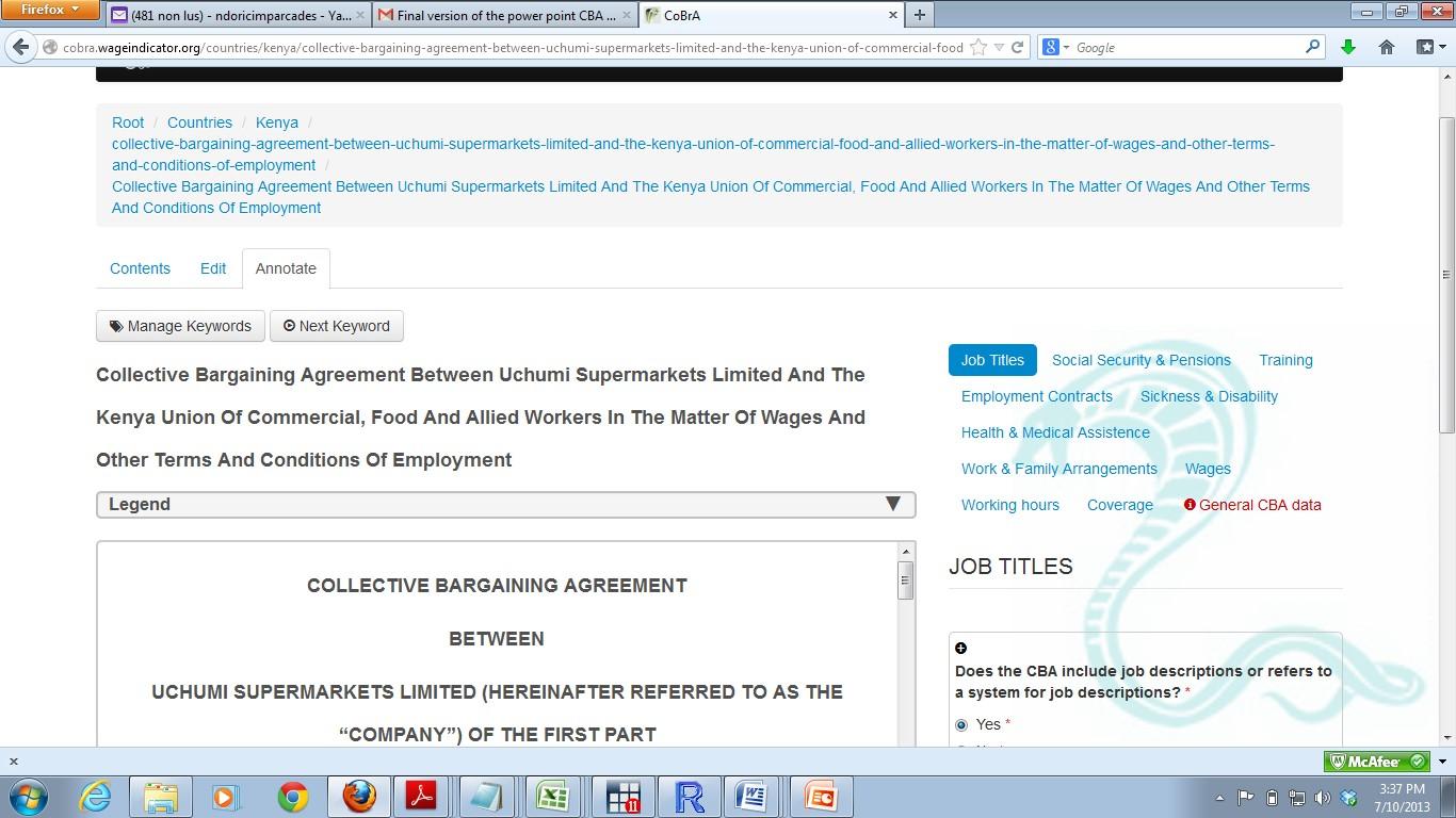 The Global Collective Bargaining Agreements Database Wageindicator
